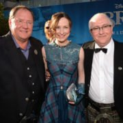 Julie with John Lasseter (Chief Creative Officer for Pixar and Disney) and Patrick Doyle (Brave score composer)